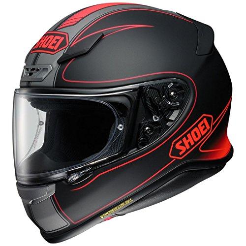 Lightest Full Face Helmet - Shoei R120FLGR 1 2 SNL unisex-adult full-face-helmet-style RF-1200 Flagger Tc-1 Helmet (Matte Black/Red, Small), 1 Pack