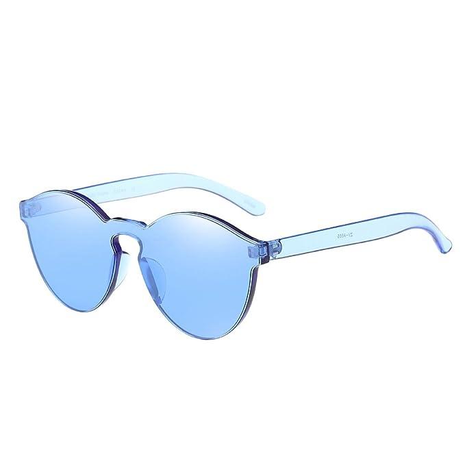 667e1b0eb55615 Ray Ban Sonnenbrille Damen Herren DAY.LIN Frauen-Mode-Katzenaugen-Shades- Sonnenbrille integrierte UV-Süßigkeit-farbige Gläser (Blau): Amazon.de:  Bekleidung