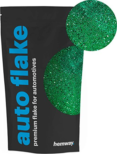 - Hemway Auto Glitter Paint Additive Metal Flake 100g/3.6oz for use with Car Bike Van Truck Wagon Motor Automotive Spray and Spray Painting (Emerald Green)