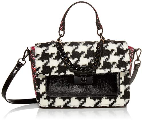 Betsey-Johnson-Hounds-Town-Top-Handle-Bag-BlackWhite