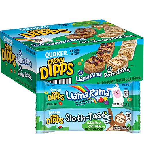 Quaker Chewy Dipps Granola Bars Variety Pack, Llama