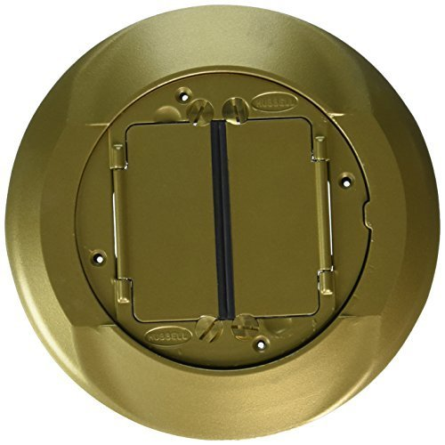Hubbell Wiring Systems S1CFCBRS Brass Finish System One Universal Carpet Cover, 8'' Diameter by Hubbell Wiring Systems