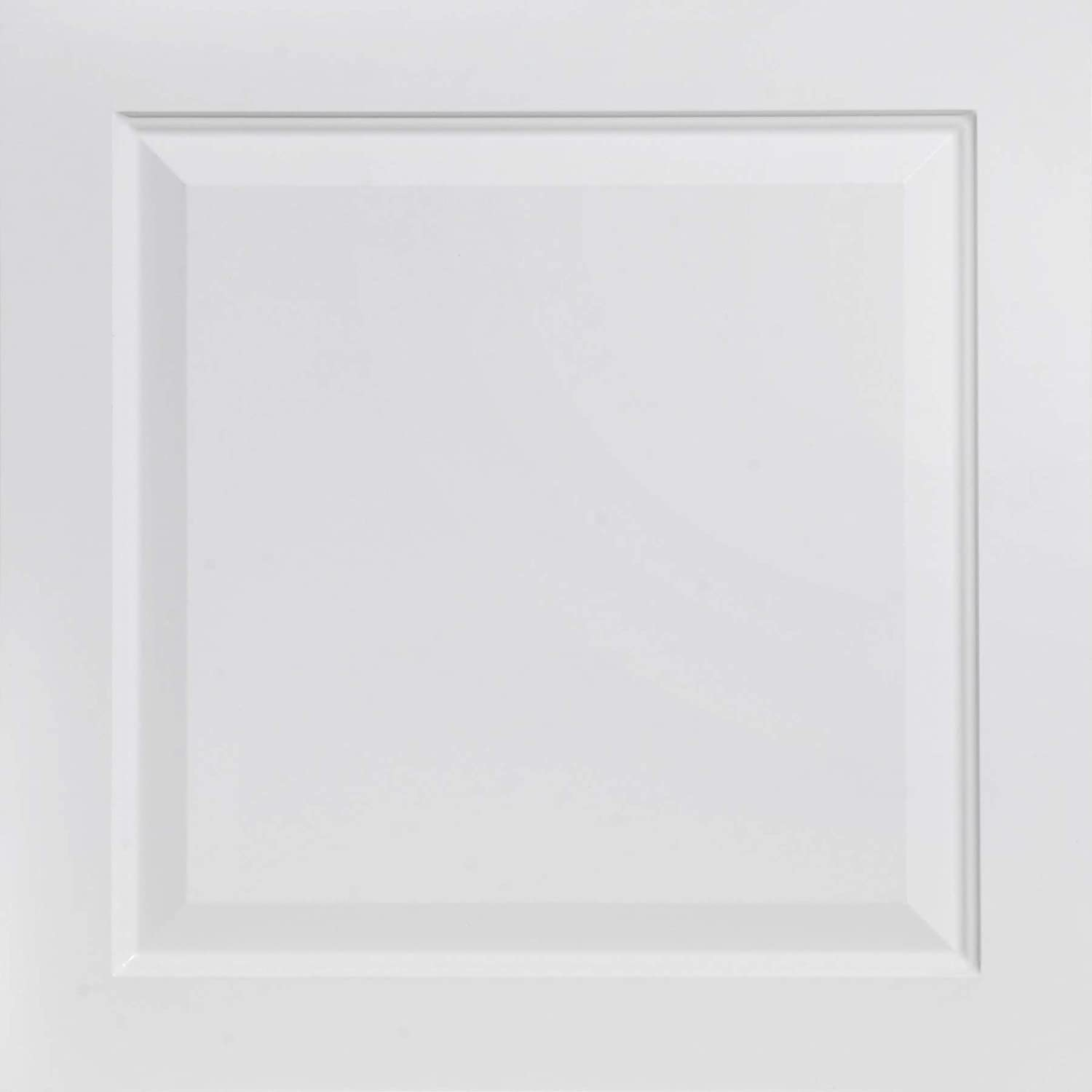 From Plain To Beautiful In Hours 505wm-24x24-25 Raised Panel Ceiling Tile White Mate 25