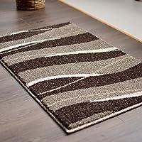 (ラグズファクトリー) 玄関マット 室内 屋内 ウィルトン織 50x80cm 北欧 ブラウン