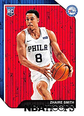 8db01f22236b 2018-19 NBA Hoops Basketball  274 Zhaire Smith Philadelphia 76ers RC Rookie  Card made