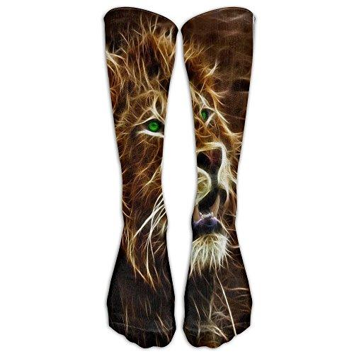Pojuu African Male Lion Athletic Socks Knee High Socks For Men&Women Sport Long Sock Tube Long Stockings One Size