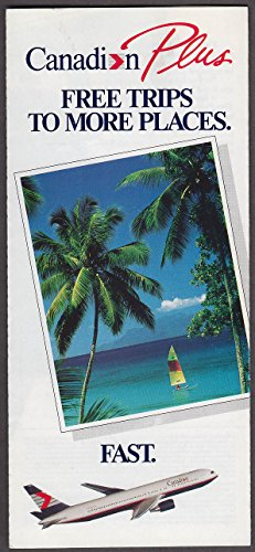 Canadian Airlines International Free Trips to More Places airline folder (Canadian Place)