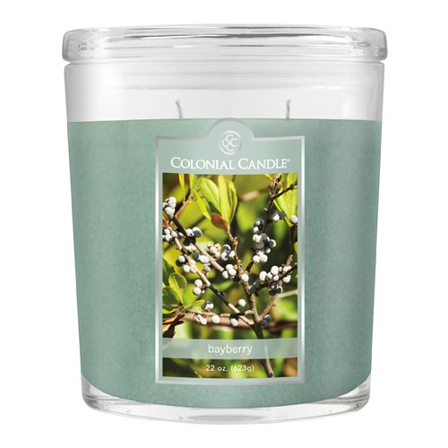 Colonial 22-Ounce Scented Oval Jar Candle, Bayberry