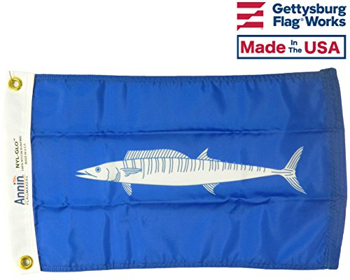 12x18 Wahoo Boat Fishing Flag, All Weather Nylon for Outdoor, Made in USA