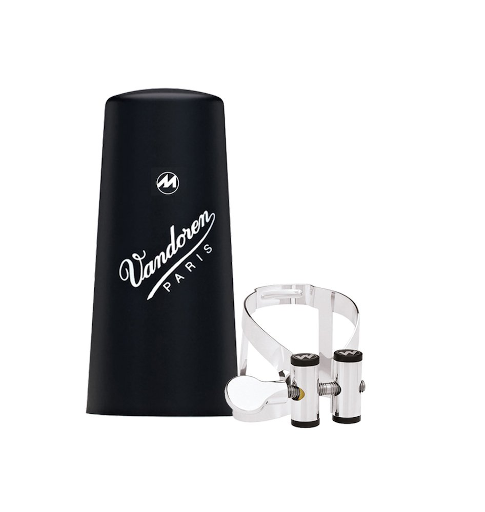 Vandoren LC61PP Masters M/O Ligature and Plastic Cap for Bb Clarinet; Pewter Finish