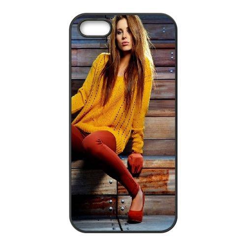 Girl Model Style Sit 55148 coque iPhone 4 4S cellulaire cas coque de téléphone cas téléphone cellulaire noir couvercle EEEXLKNBC25381