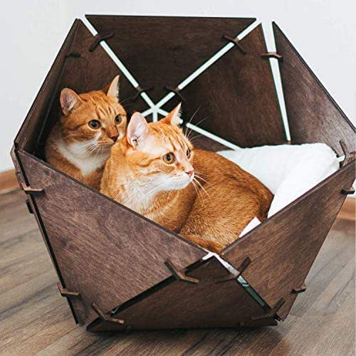 Cat Bed Wigwam House for Cats Cat Bed Furniture Wooden Pet House