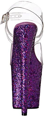ppg Flamingo clr 808lg Holo Glitter Scarpe C Pleaser Tacco Col Trasparente Donna purple Rq7RWdz