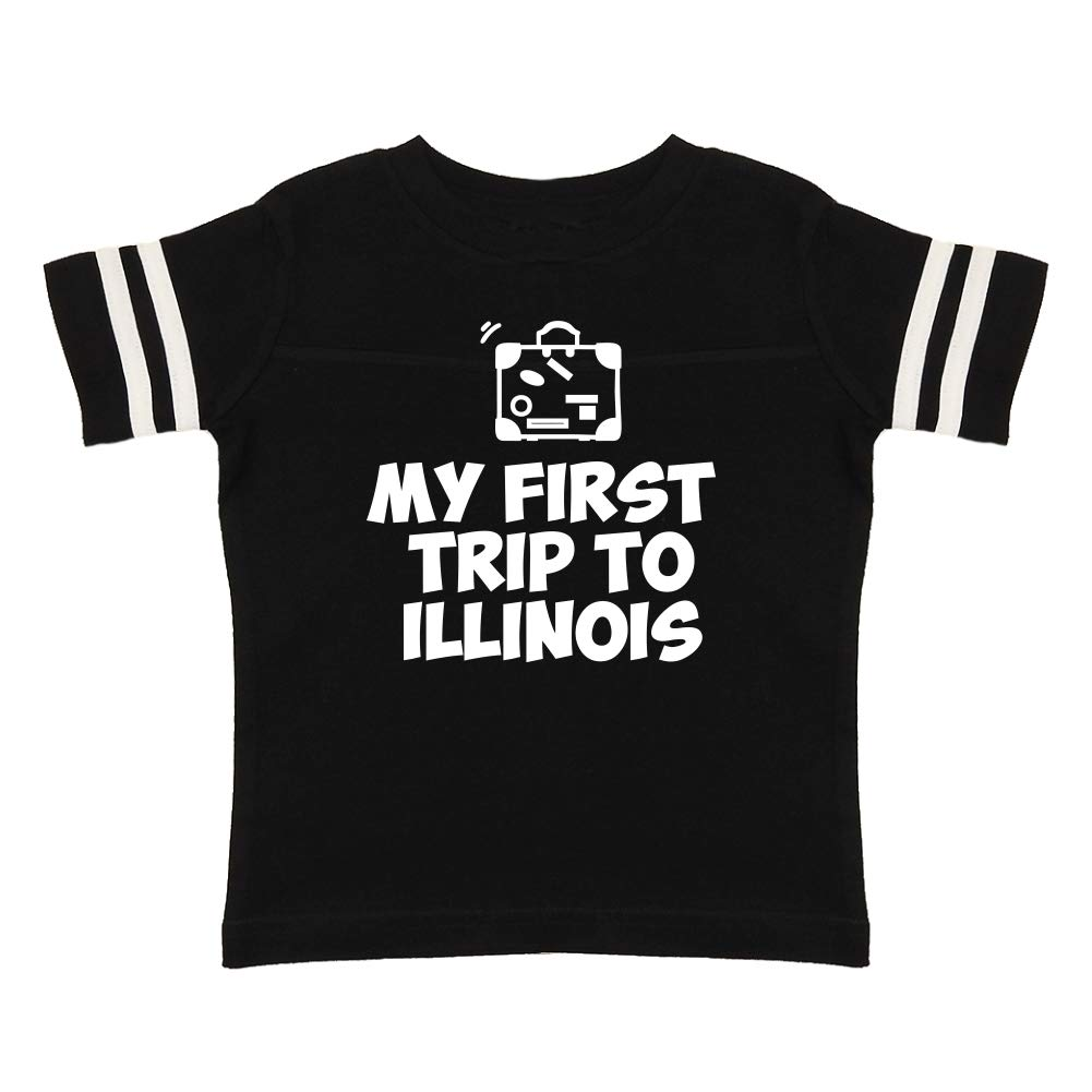 Toddler//Kids Sporty T-Shirt Mashed Clothing My First Trip to Illinois
