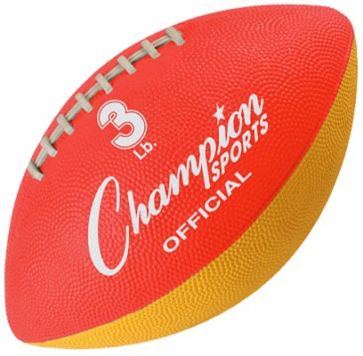 Champion Sports Official Sized Football Trainer, 3-Pound, Red/Yellow by Champion Sports