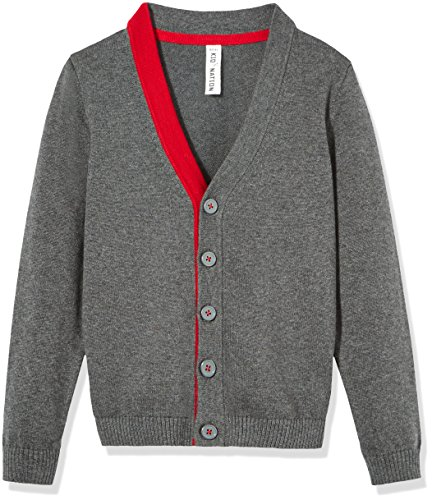 Kid Nation Boys' Long Sleeve Cardigan Sweater XL Dark Grey