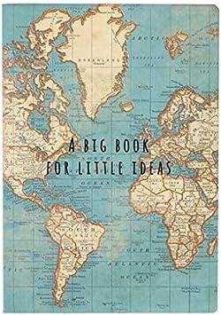 Sass & Belle- Libreta Vintage Mapa Mundi, Color Azul (CR145 ...