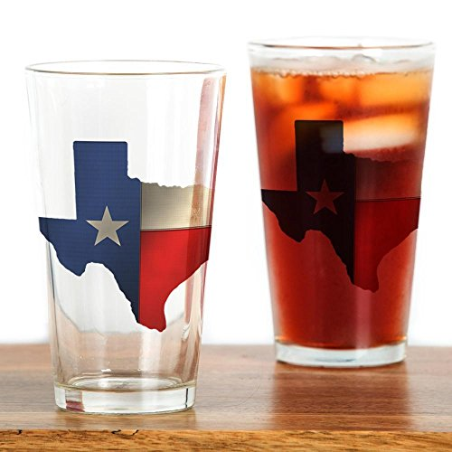 CafePress State Texas Glass Drinking