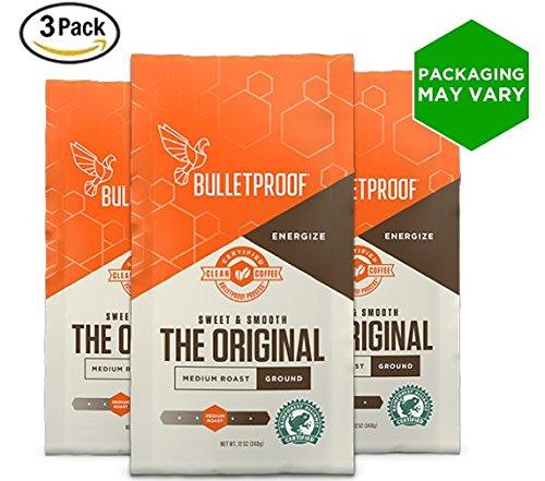 (Bulletproof The Original Ground Coffee, Premium Medium Roast Organic Beans, 3-Pack)
