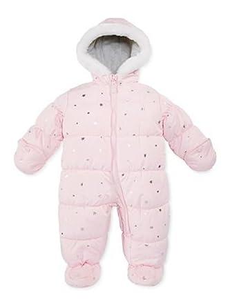 cc46ecdbd0c8 Carter s Infant Girls Pink Foil Stars Snowsuit Baby Pram Snow Suit ...