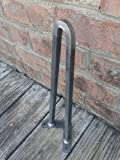 Square Bar Raw Steel 28'' Hairpin Legs - Heavy Duty Bench Legs Industrial - EACH LEG SOLD SEPERATELY