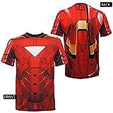 Iron Man Sublimated Athletic Costume T-Shirt- Medium