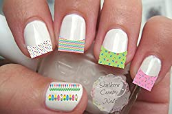50 Easter French Tip Nail Art Decals