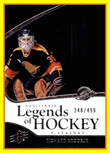 2011-12 SPx #120 Richard Brodeur LEGEND VANCOUVER CANUCKS SERIAL #248/499