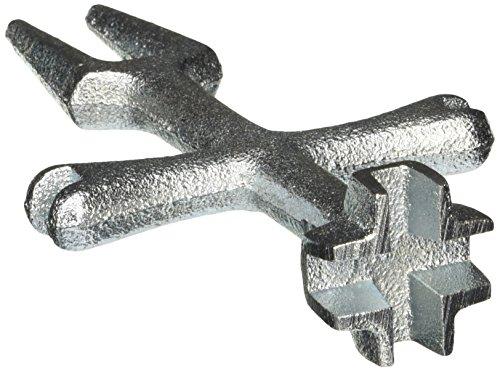 EZ-FLO 45117 PO Plug & Closet Spud Wrench, Silver (Wrench Spud Internal)
