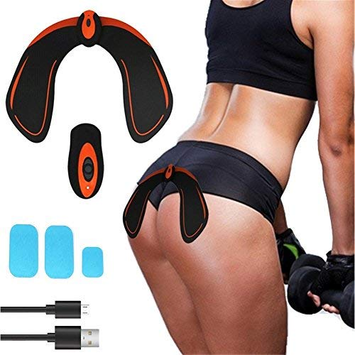 EMS Hips Trainer, USB Rechargeable ABS Butt Toner with Remote Controller and 3 pcs Replacement Gel Pads - Butt Lifting Buttocks Enhancement Device Sexy Hips Shaping Equipment for Men and Women