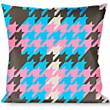 Buckle Down Throw Pillow-Mini Gray/Baby Blue/Pink, Houndstooth