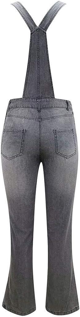 Hemlock Women Long Jeans Jumpsuit Washed Denim Bib Overalls Ripped Jeans Denim Jumpsuits Rompers