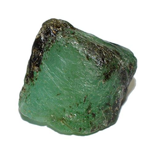 Emerald natural rough gemstone crystal 17.64 carat