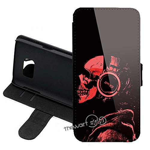 Samsung Galaxy Note 8 Wallet Case of Skull Grim Reaper PU Leather Folio Flip Stand Wallet Case Cover with ID Credit Card Holder + Thewart_Eight Stylus Pen -