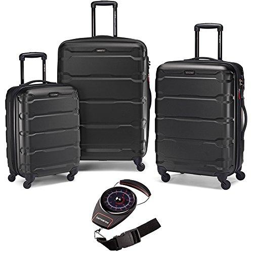 Samsonite 68311-1041 Omni Hardside Nested Spinner Set - Black with Luggage Scale (Samsonite Omni Pc Hardside 20 Inch Spinner)