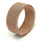 LOMOL Korean Style Popular Fashion Titanium Steel Soft Net Rings For Men&Women