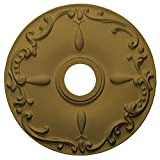 Ekena Millwork CM18KEGLS Kent Ceiling Medallion, 18'' OD x 3 1/2'' ID x 1 1/4'' P, Gold
