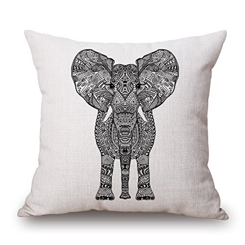 Loveloveu Elephant Pillowcover 16 X 16 Inches / 40 By 40 Cm Gift Or Decor For Sofa,teens Boys,father,father,outdoor,bedding - Double Sides