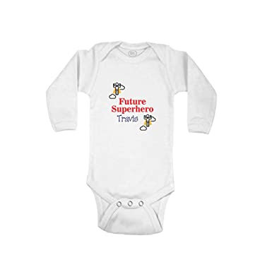 1e281e151 Personalized Custom Future Superhero Cotton Long Sleeve Envelope Neck  Boys-Girls Baby Bodysuit One Piece
