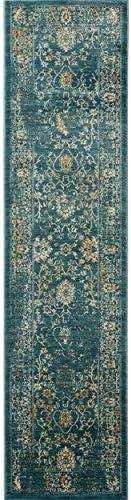 Safavieh Evoke Collection EVK510K Vintage Oriental Light Blue and Beige Runner 2 x 10