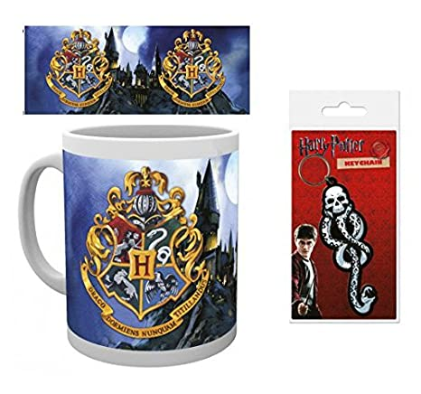 Set: Harry Potter, Hogwarts, Blasón Taza Foto (9x8 cm) Y 1 ...