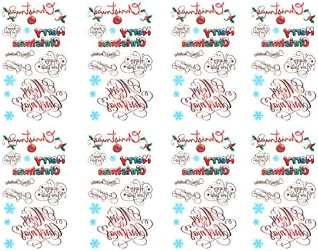 Amosfun 12 piezas pegatinas de tatuajes de navidad tatuajes ...