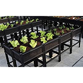 City Farmer USA Large Raised Elevated Garden Bed & Planter 31 Based on customer feedback our New Large Raised Elevated Garden Bed & Planter has less parts for easier assembly, has fabric panels to insure soil retention, have plastic seam covers to help retain water, and can fit in any space on your balcony, patio, rooftop, or backyard. These planters are made of safe non-toxic, anti UV, and impact resistant materials. The patented mesh side ventilation design promotes a healthy root system, and the patented base retains water and nutrients for growing faster healthier vegetables to enhance your natural organic urban farming.