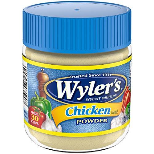 Wyler's Instant Chicken Bouillon Powder (3.75 oz Jars, Pack of 8)