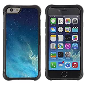 Suave TPU GEL Carcasa Funda Silicona Blando Estuche Caso de protección (para) Apple Iphone 6 / CECELL Phone case / / Night Sky Stars Blue Space Atmosphere /