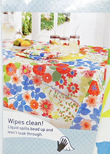 Indoor/Outdoor Tablecloth Polyester,Wipes Clean! (Marni Floral) 60