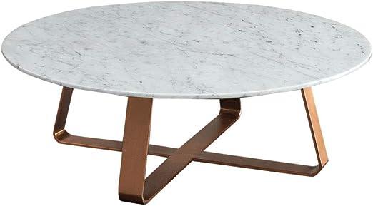 KUKU-mesas de centro Mesa de Centro nórdica Redonda de mármol ...