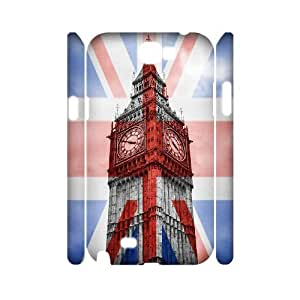 HEHEDE Phone Case Of uk illustration Fashion Style Colorful Painted For Samsung Galaxy Note 2 N7100
