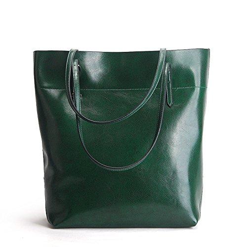 Retro Lady Shoulder Bag Bulk Bag Fashion Leather Crossbody Bag Shopping Bag Darkgreen