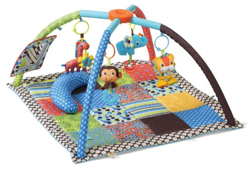 Infantino Travel Activity Gym - Infantino Twist and Fold Activity Gym, Vintage Boy